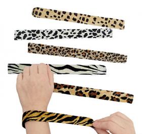 Animal Print Slap Bracelets  1 doz
