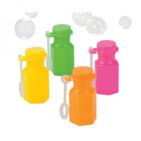 Neon Hexagon Bubble Bottles