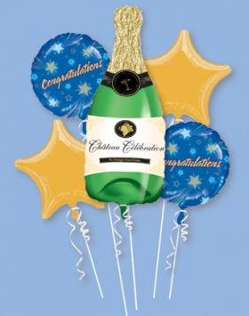 Congratulations Champagne Bottle Bouquet 5pc
