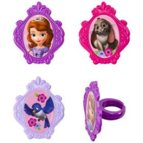 Sofia the First Sofia's Friends Cupcake Rings 6pcs