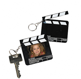 Director's Clapboard Picture Frame Key Chains 1doz