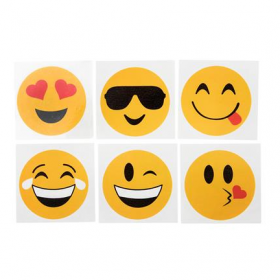 "2"" Emoticon Tattoos 144pcs"