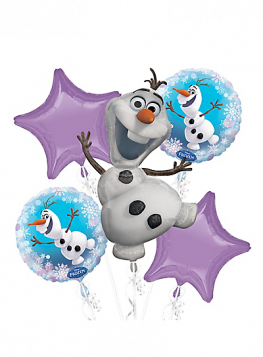 Frozen Olaf Party Favor Birthday Bouquet Balloons