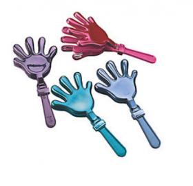 Plastic Metallic Hand Clappers 1doz