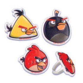 Angry Birds Cupcake Rings  6pcs