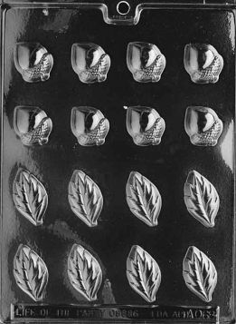 Acorns And Leaves Candy Mold