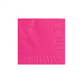 Bright Pink Beverage Napkins 50Ct