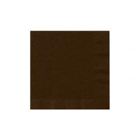 Chocolate Brown Beverage Napkins 50Ct