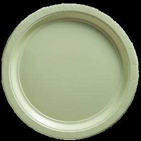 Leaf Green Paper Dinner Plates 20ct