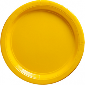Yellow Sunshine Paper Dinner Plates 20ct