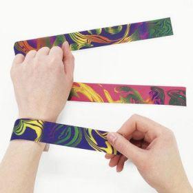 Nylon Tie-Dyed Slap Bracelets 1dz