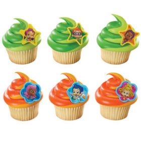 Bubble Guppies Cupcake Rings  6pcs