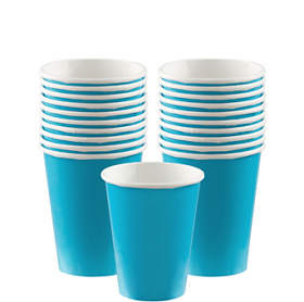 Carribbean Blue Paper Cups 20ct