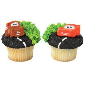 Cars Cupcake Rings  6pcs