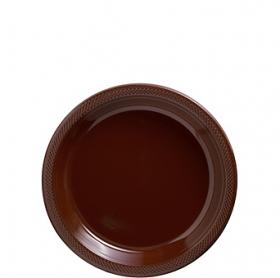 Chocolate Brown Plastic Dessert  Plates 20ct