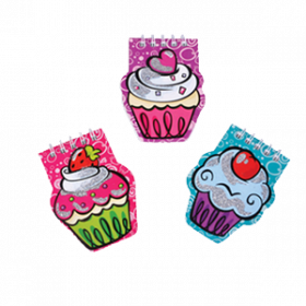 Cupcake Notepads with Gems (2dz)