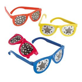 Star Print Mirrored Lens Sunglasses (1doz)