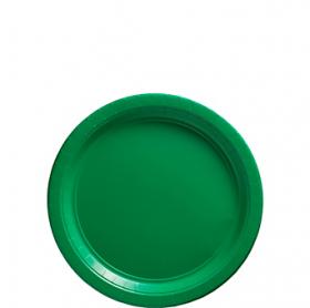 Festive Green Paper Dessert Plates 20ct
