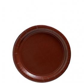 Chocolate Brown Paper Dessert Plates 20ct