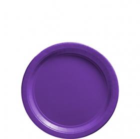 New Purple Paper Dessert Plates 20ct