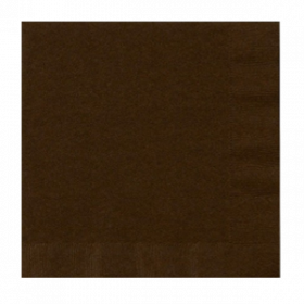 Chocolate Brown Lunch  Napkins 50Ct