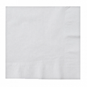 Frosty White Lunch Napkins 50Ct