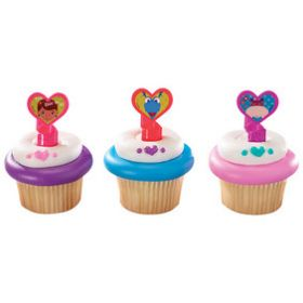 Doc McStuffins Doc & Friends Cupcake Rings  6pcs