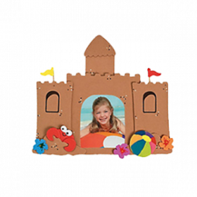 Sandcastle Picture Frame Magnet Craft Kit (12pcs)