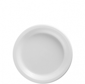 Frosty White Plastic Dessert  Plates 20ct
