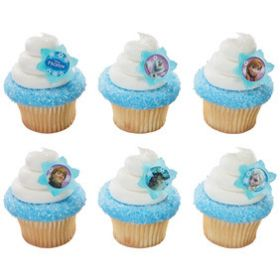 Frozen Cupcake Rings  6pcs