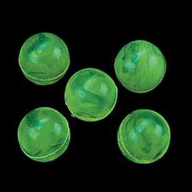 Marbleized Glow-in-the-Dark Green Bouncing Balls - 48 pcs