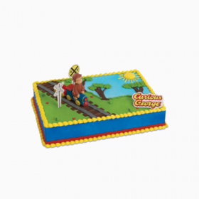 Curious George Train Cake Kit