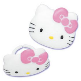Hello Kitty Cupcake Rings 6pcs