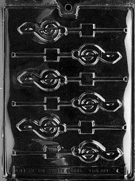 Music Lollipop Candy Mold