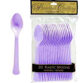 Lavenders  Premium Quality Plastic Spoons 20ct