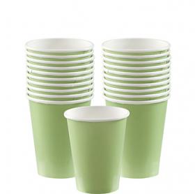 Leaf Green Paper Cups 20ct