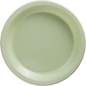 Leaf Green Plastic Dinner Plates 20ct
