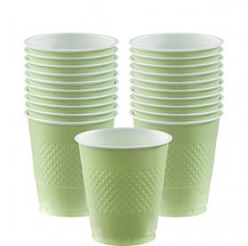 12oz Leaf Green Plastic Cups 20ct