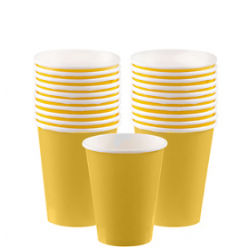 Light Yellow Paper Cups 20ct