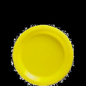 Light Yellow Plastic Dessert  Plates 20ct