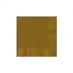 Gold Sparkle Beverage Napkins 50Ct