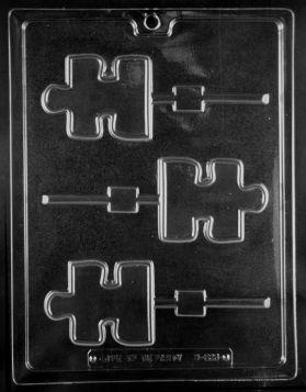 Autism Awareness Puzzle Piece Chocolate Lollipop