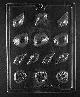 Assorted Seashells Candy Mold