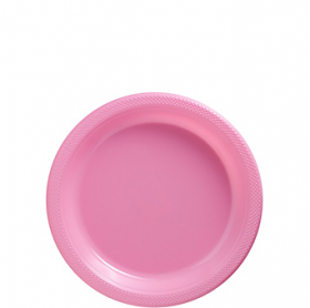 New Pink Plastic Dessert  Plates 20ct