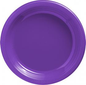 New Purple Plastic Dinner Plates 20ct