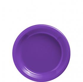 New Purple Plastic Dessert  Plates 20ct
