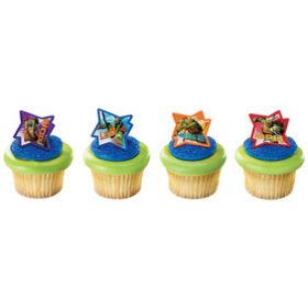 Ninja Turtles Cupcake Rings 6pcs