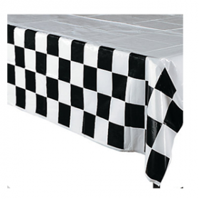 Black & White Checkered Tablecloth