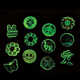 Glow-in-the-Dark Everyday Tattoos (72pcs)