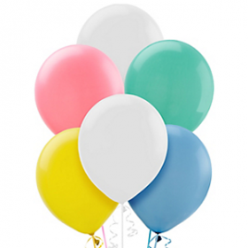 Assorted Pastel Balloons 72ct